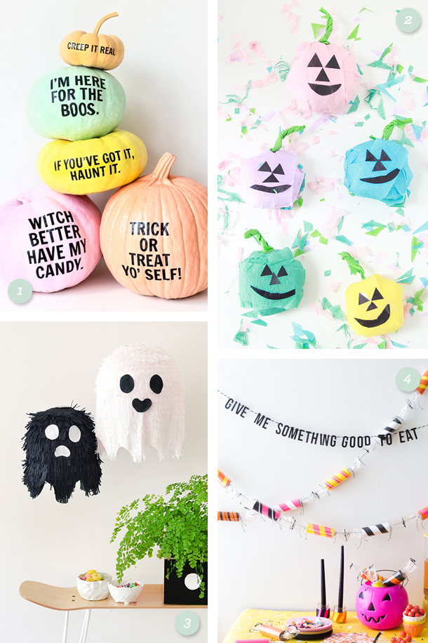 Get ready for Halloween with these fun, easy to make decorations! (Click through for links to each project)