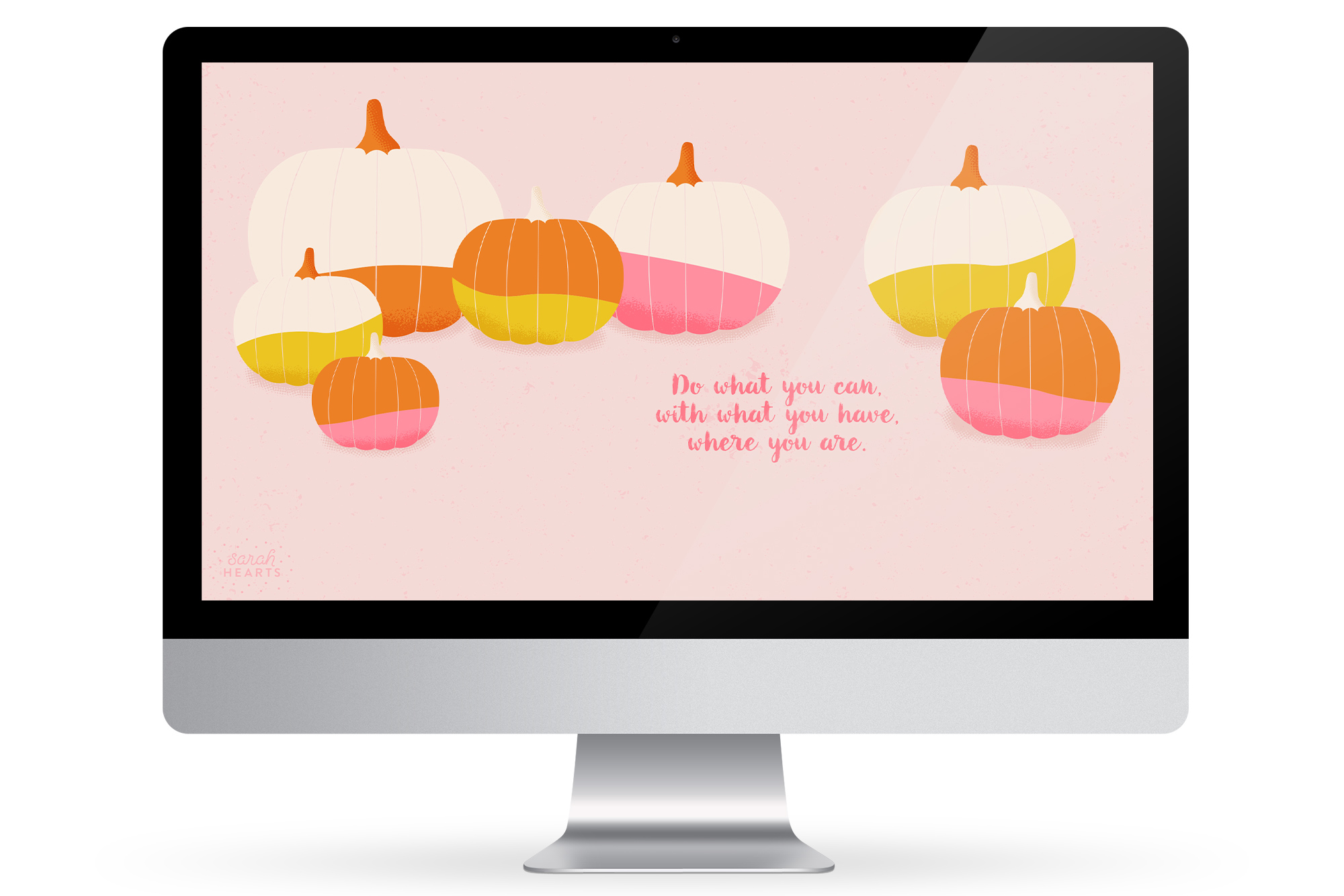 Fall is in full swing so adorn your computer, phone or tablet with this cute free pumpkin wallpaper. Available with a November 2015 calendar, an inspirational quote or just pumpkins!