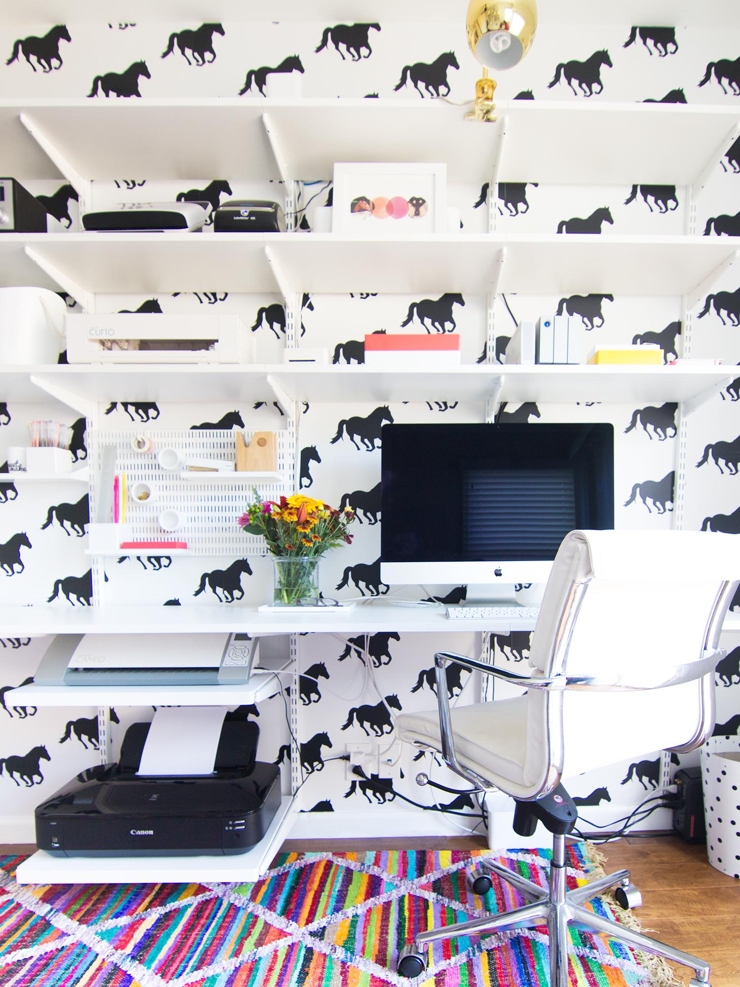 Peel And Stick Horse Wallpaper Sarah Hearts