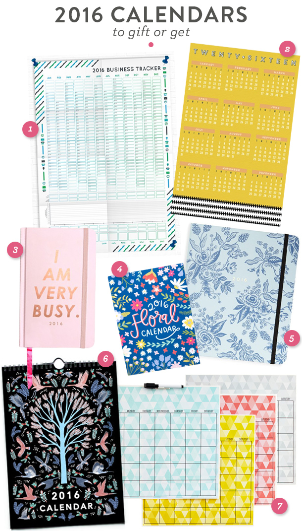 Here's a great round up of the best 2016 planners and calendars to give as gifts this holiday season!