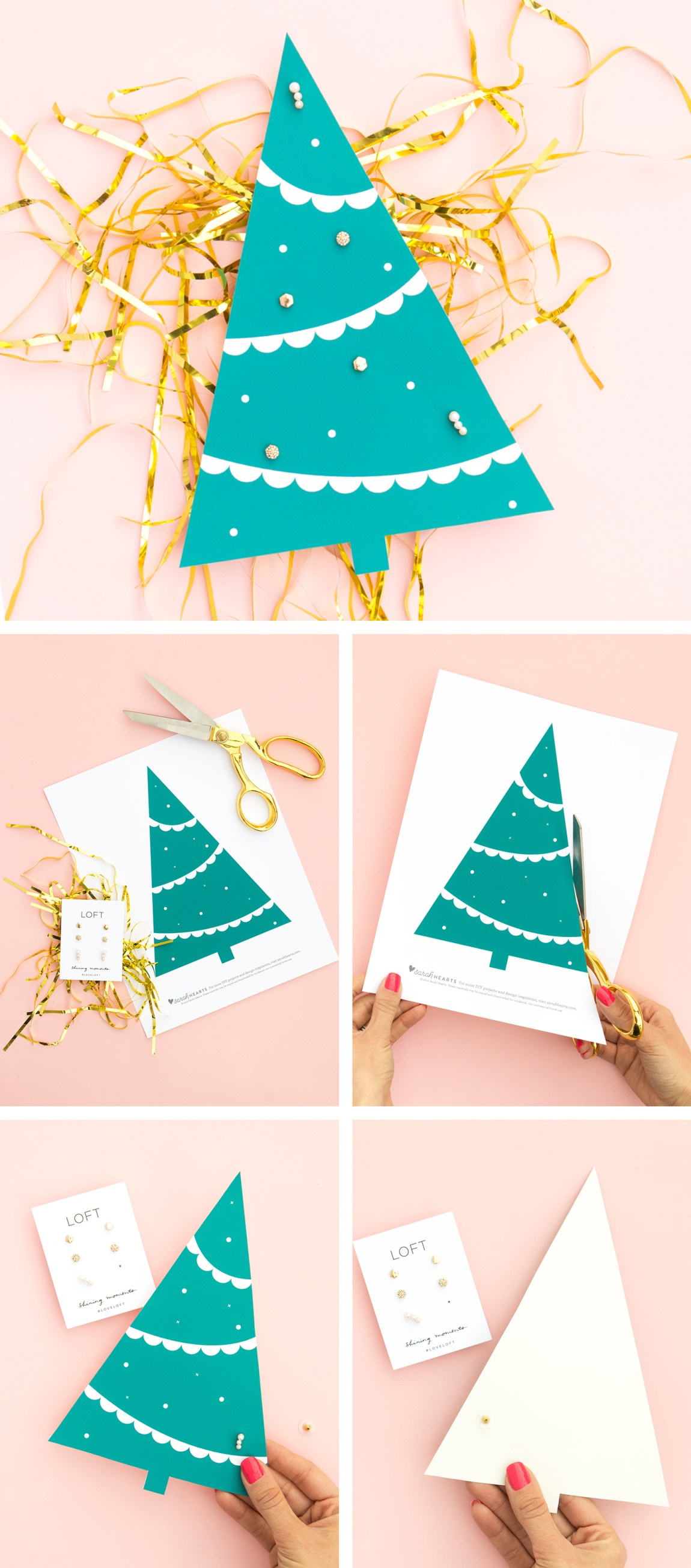 The cutest way to gift earrings ever! (Click through to download the free printable tree template)