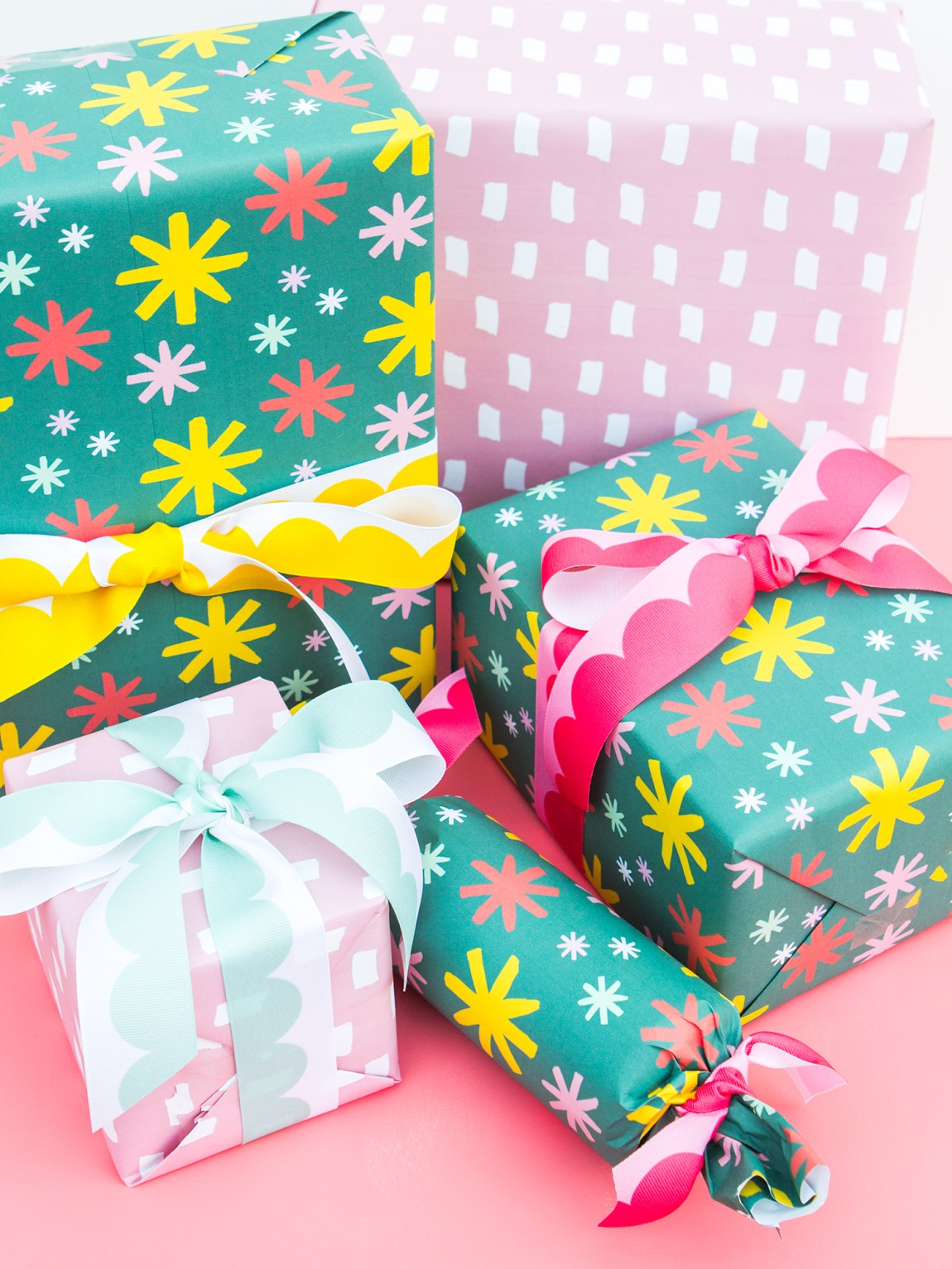 Make your gifts even more special this holiday season with custom printed gift wrap! (Click through to download the patterns)