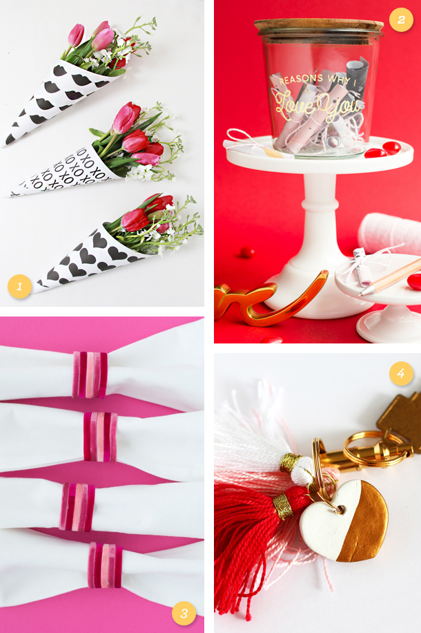 Make your Valentine something special! Try one of these easy, affordable DIY Valentine's Day gifts. (Click through for links to each project)