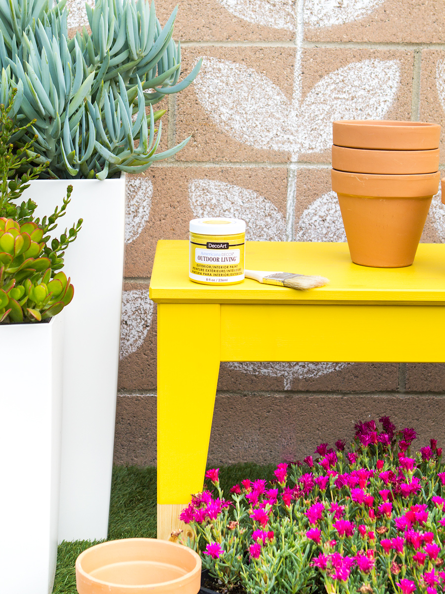 Phenomenal Diy Paint Dipped Ikea Nornas Outdoor Bench Sarah Hearts Gmtry Best Dining Table And Chair Ideas Images Gmtryco