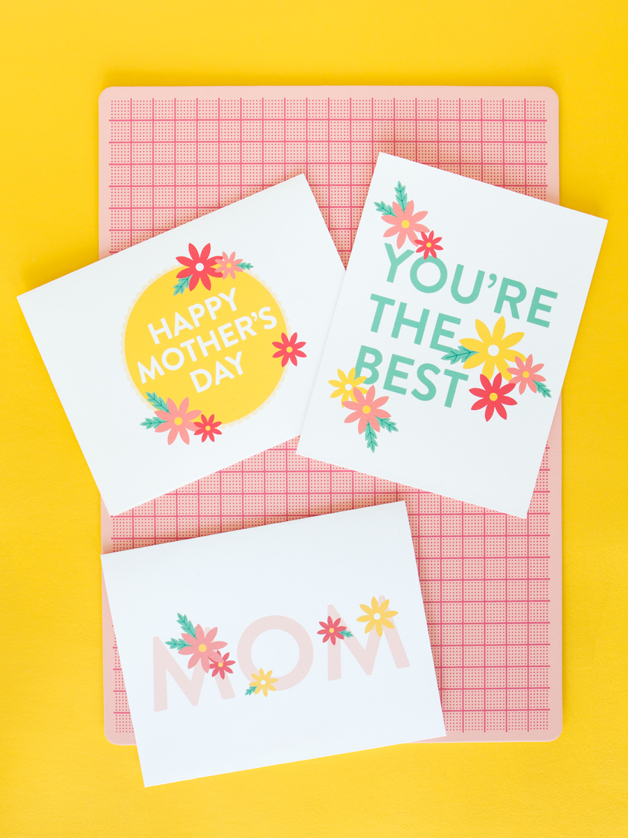 Super cute free printable Mother's Day cards!