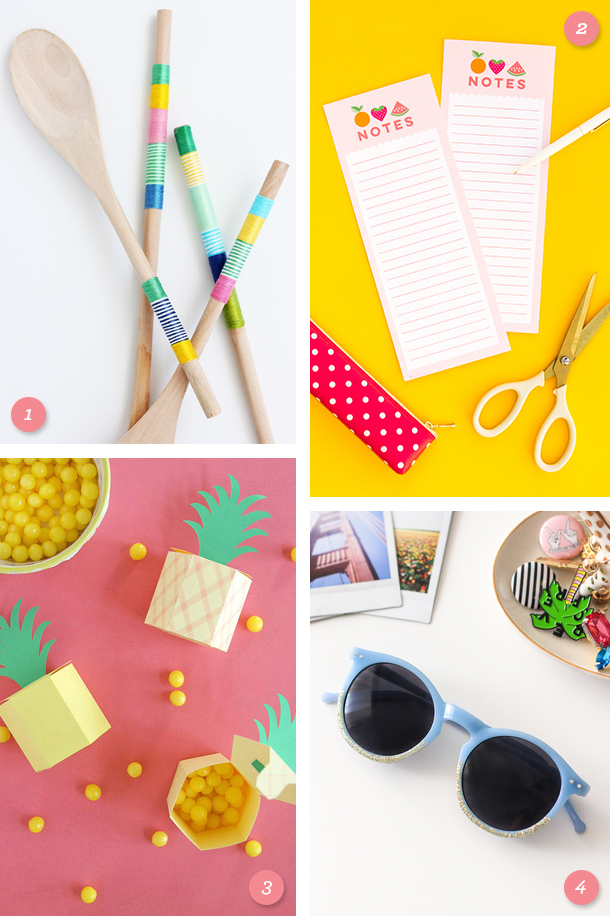 Try one of these easy summer inspired DIY projects this weekend!