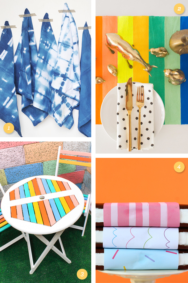 Add a pop of color to your home with one of these fun DIY projects!