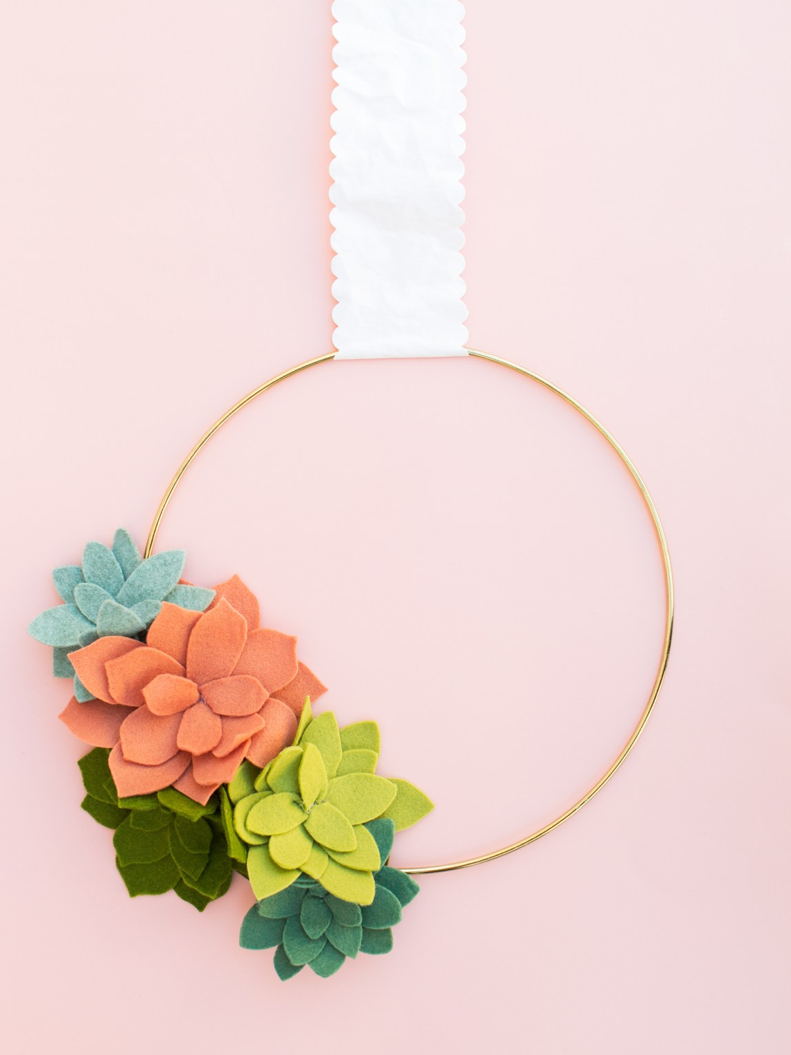 No green thumb required for this faux felt succulent wreath. See this and 9 other reader favorite project of 2016.