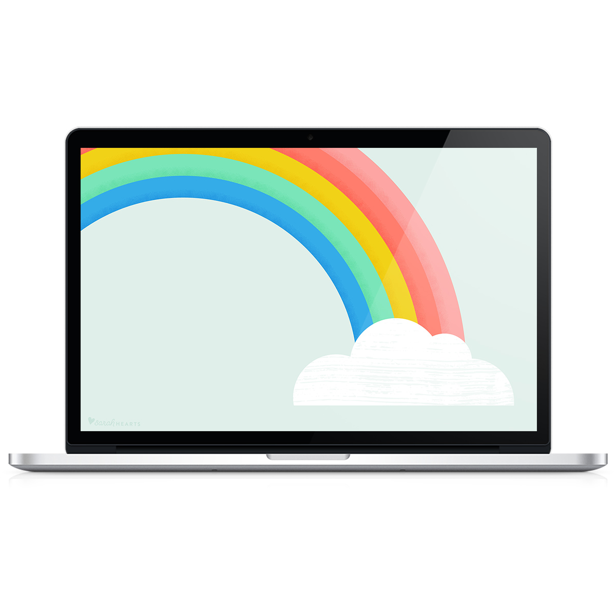 Add some color to your computer, phone or tablet with this free cheerful rainbow wallpaper!
