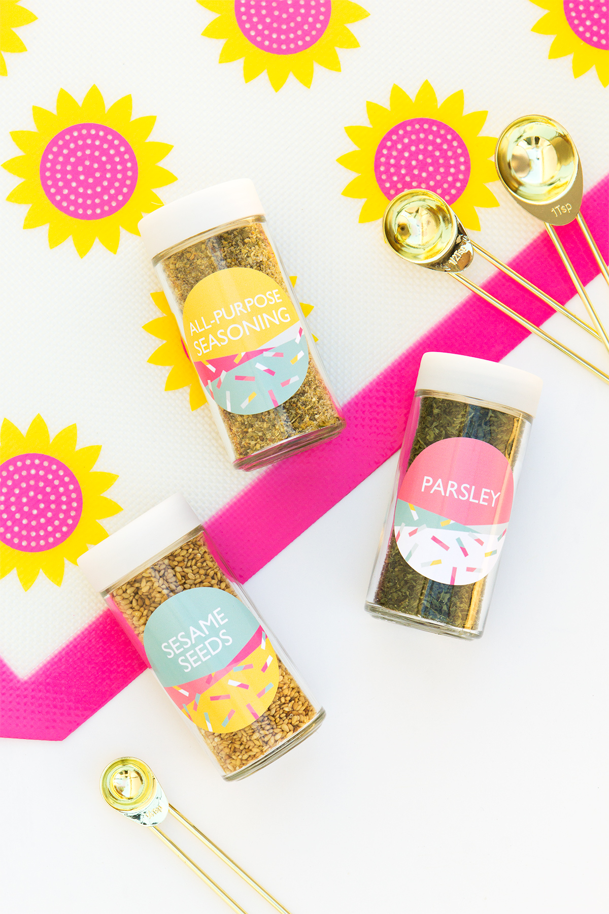 photograph about Printable Spice Jar Labels named Printable Spice Jar Labels - Sarah Hearts