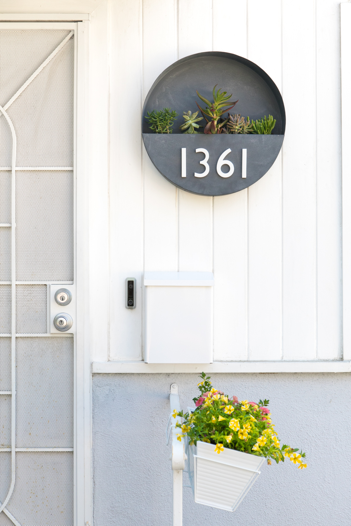 Learn How To Make Your Own Modern House Number Wall Planter! Itu0027s A Great  Way