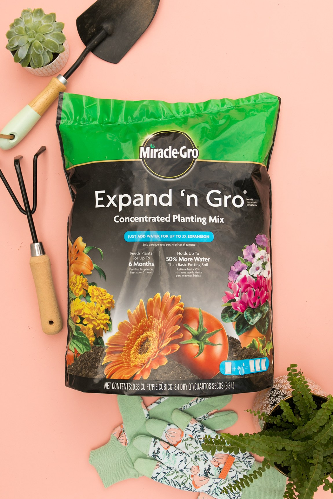 Miracle-Gro soil is now available on Amazon Prime. Just add water and it expands 3x in volume.
