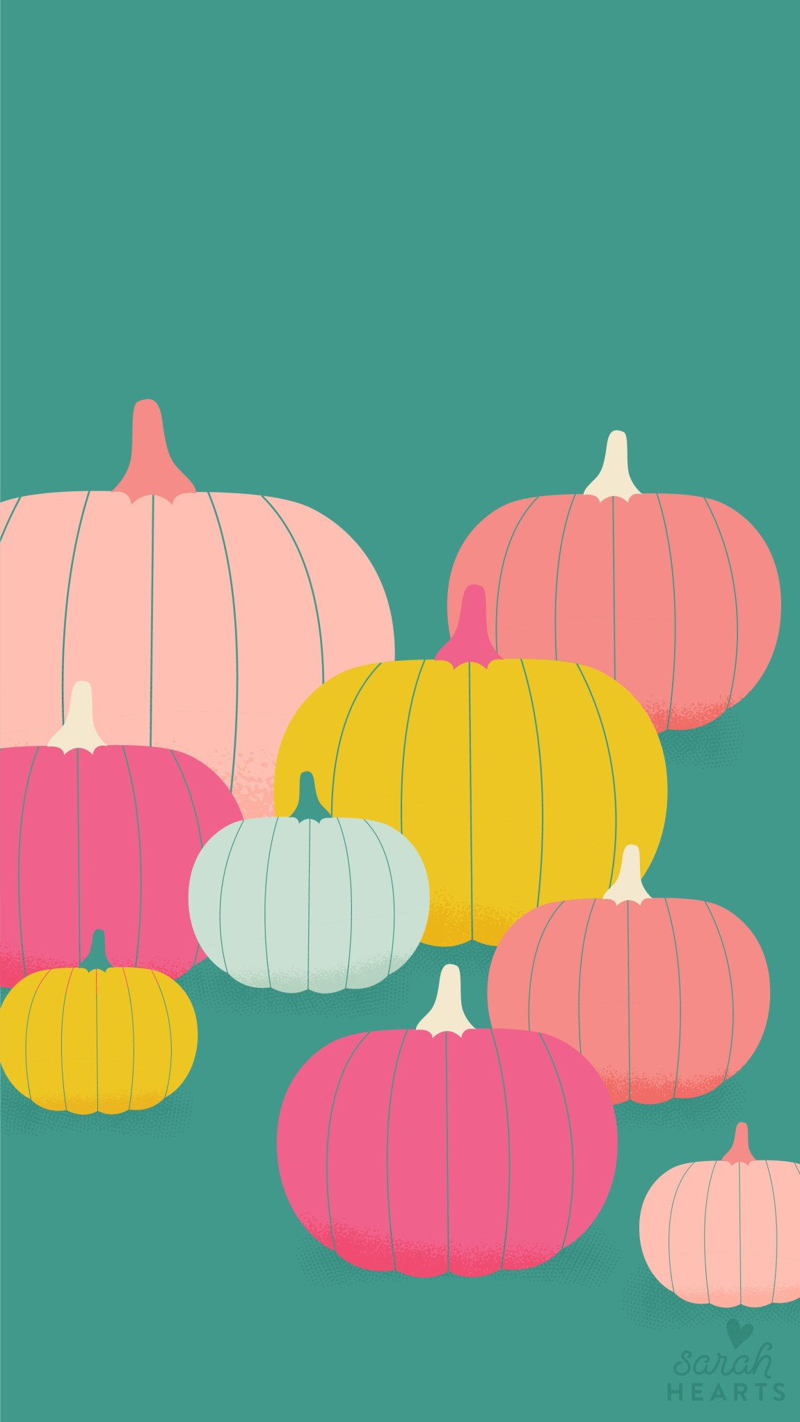 Celebrate fall on your iPhone with this free colorful pumpkin wallpaper.