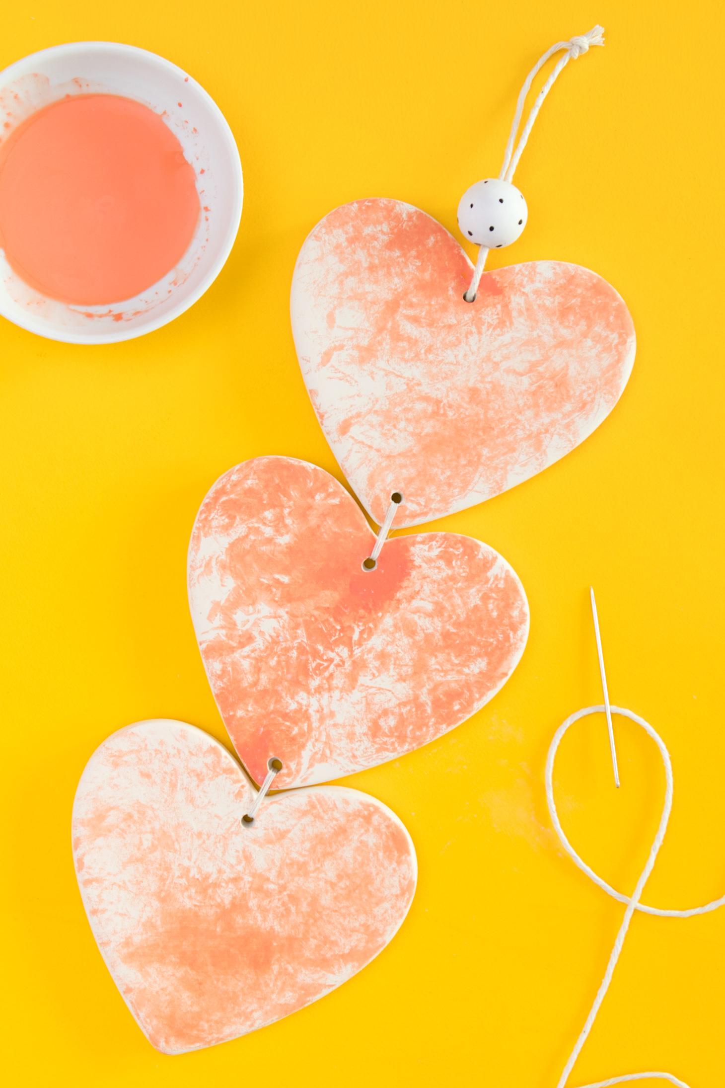 DIY Ceramic Heart Wall Hanging - Sarah Hearts