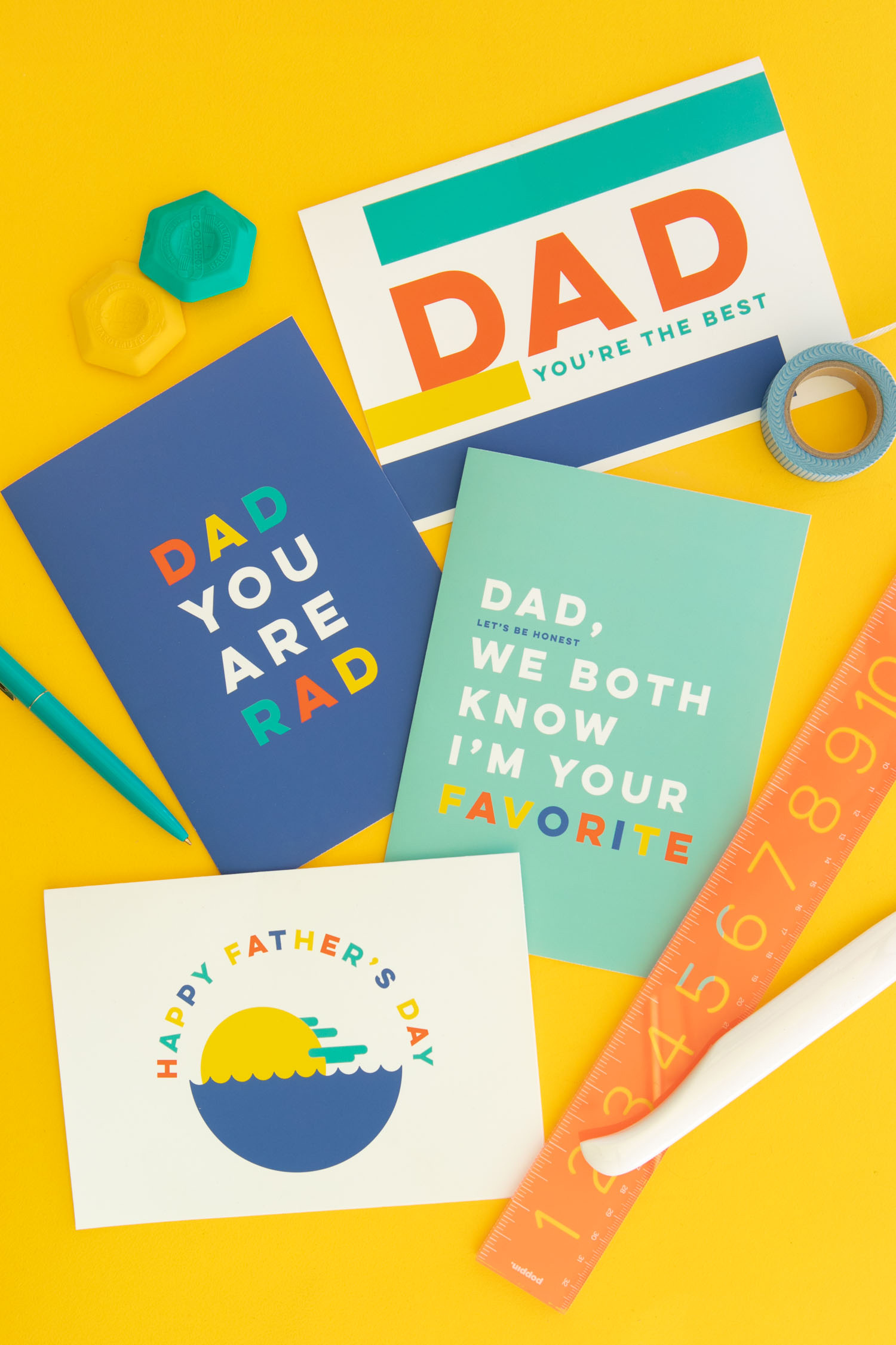 Free Printable Modern Father\'s Day Cards - Sarah Hearts