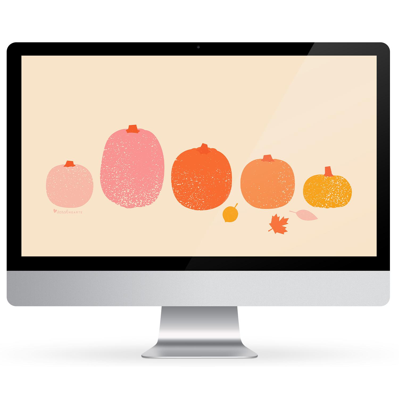 October 2019 Pumpkin Calendar Wallpaper Sarah Hearts