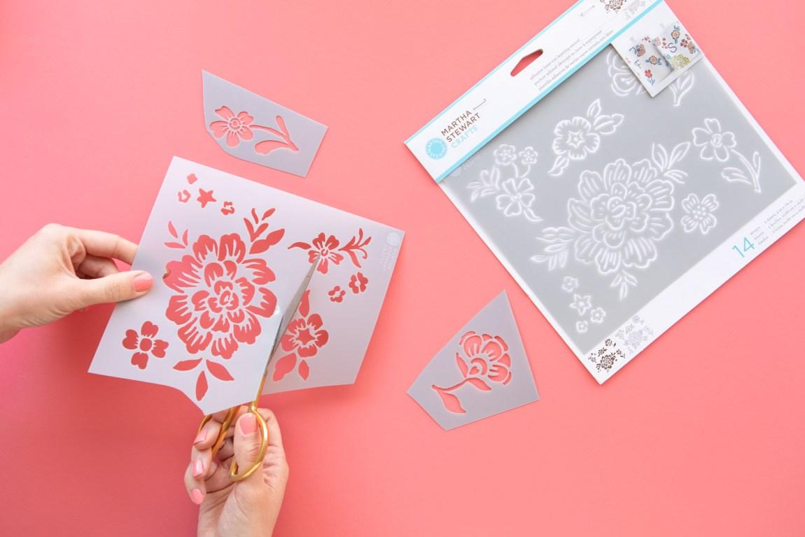 Use scissors to make individual stencils