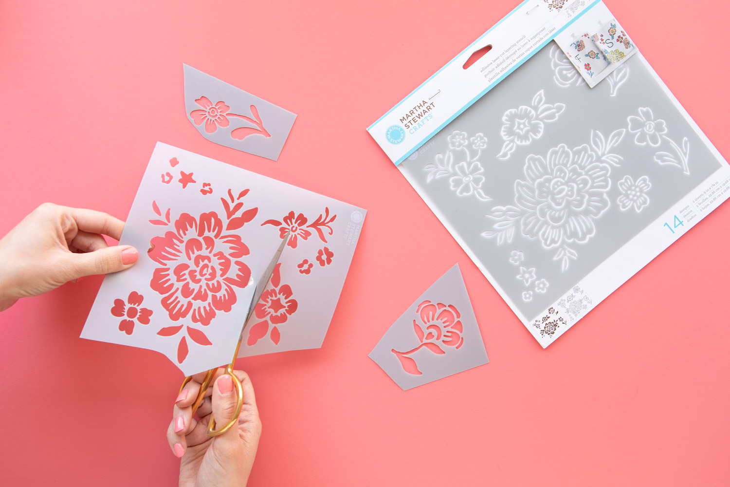 Use scissors to make individual stencils
