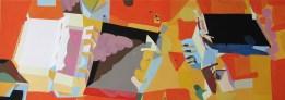 'Runghead' Gouache and Pencil on Watercolour Paper 24 x 67 cm