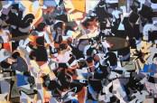 'Obnouncing' Gouache on Moulin du Gue Paper 92 x 60 cm
