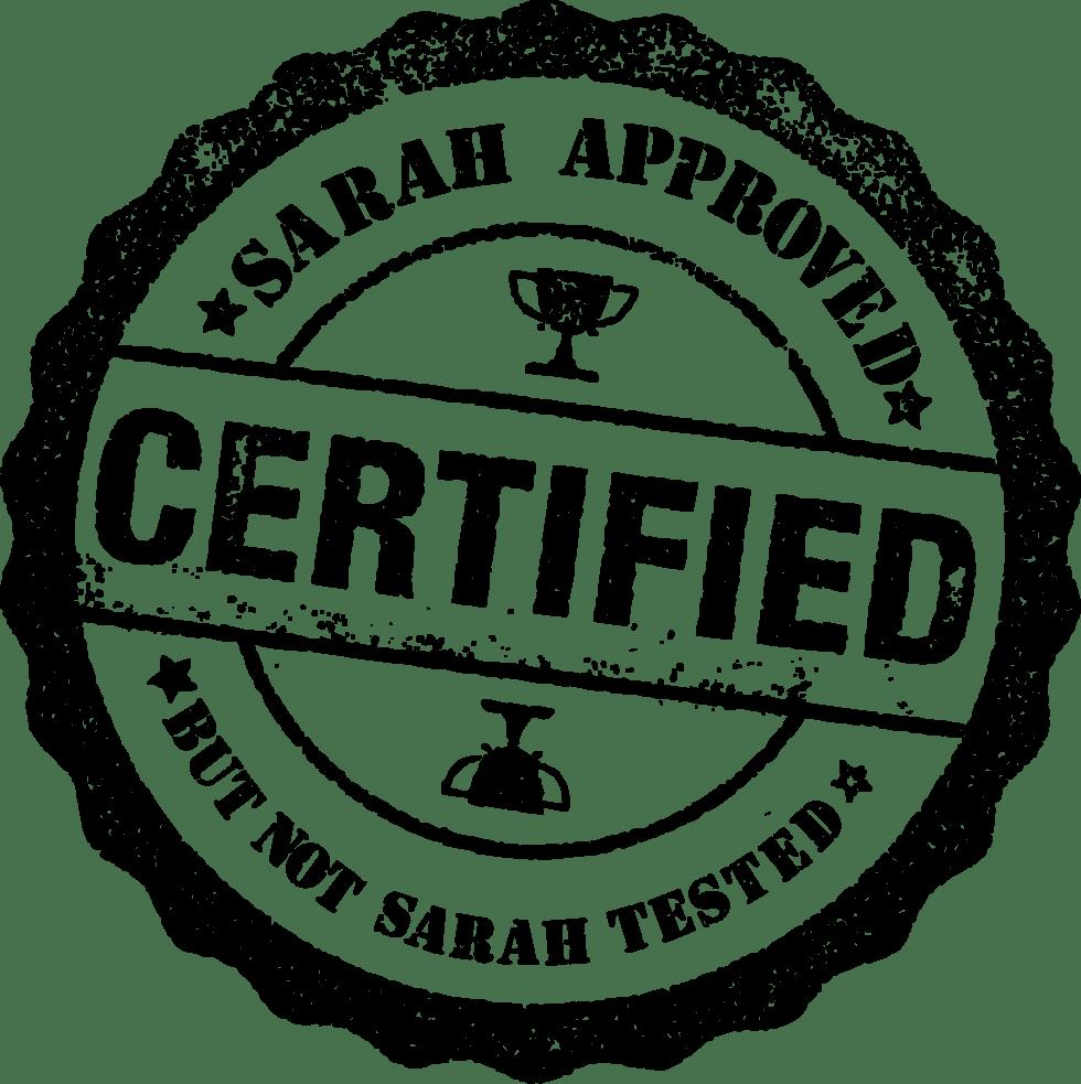 Sarah Certified 2