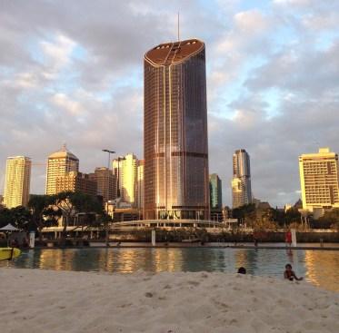 The Southbank's artificial beach