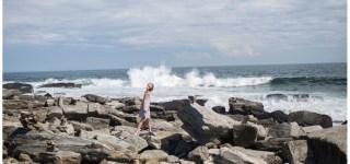 image of rocky coastline Peaks Island Maine