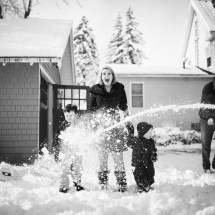 Family Pictures in the snow New Hampshire
