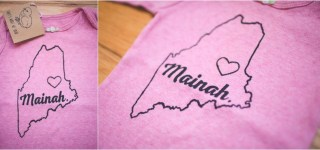 Mainah Made in Maine shirt screen printed Etsy