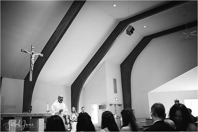 Saint MAry's Church Wells Maine Wedding Photographer Sarah Jane Photography