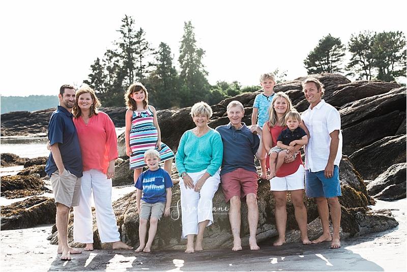 Pemaquid Beach Park Family Portrait Session Sarah Jane Photography