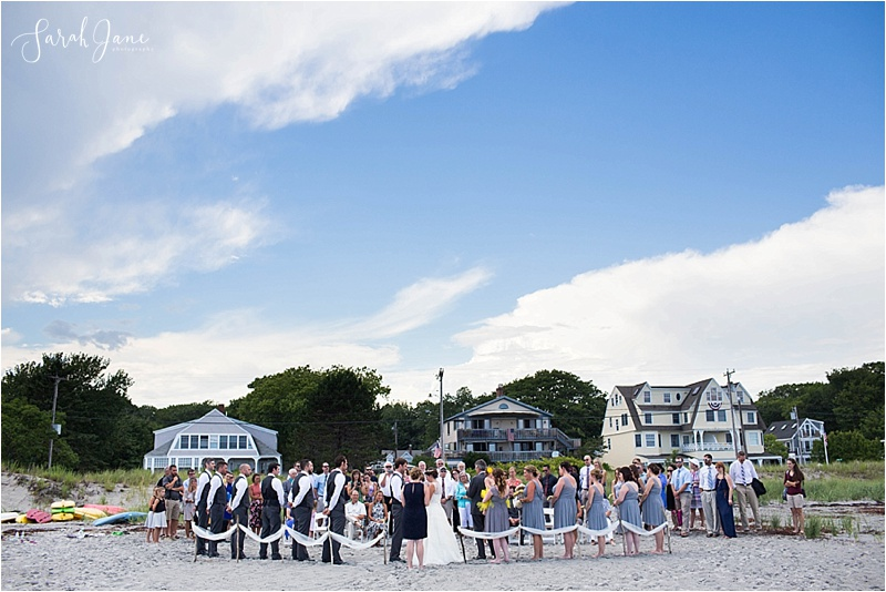 Beach Ceremony at Goose Rocks Beach Kennebunkport Maine Wedding