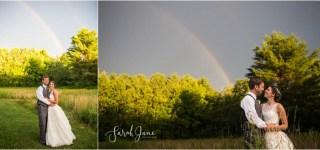 Double Rainbow Portrait Kennebunkport Wedding Photographer Sarah Jane Photography