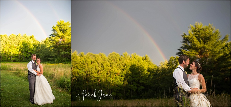 Double Rainbow Portrait Kennebunkport Wedding Photographer Sarah Jane Photography