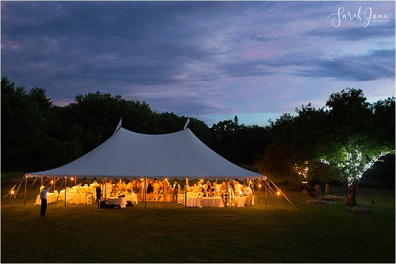 Tented Wedding at Emmons Preserve Kennebunkport Conservation Trust