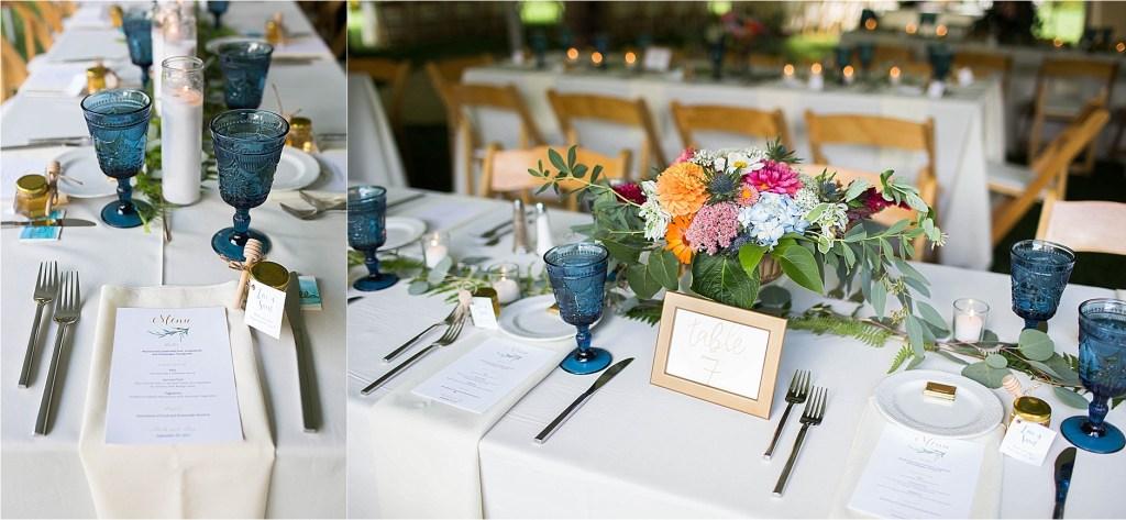 Table Decor Maine Wedding Gisland Farm Falmouth