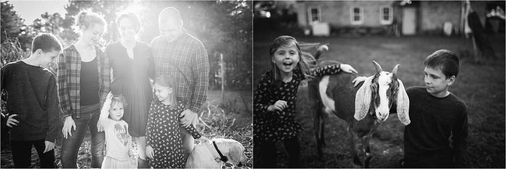 Family Farm Portrait Session Maine