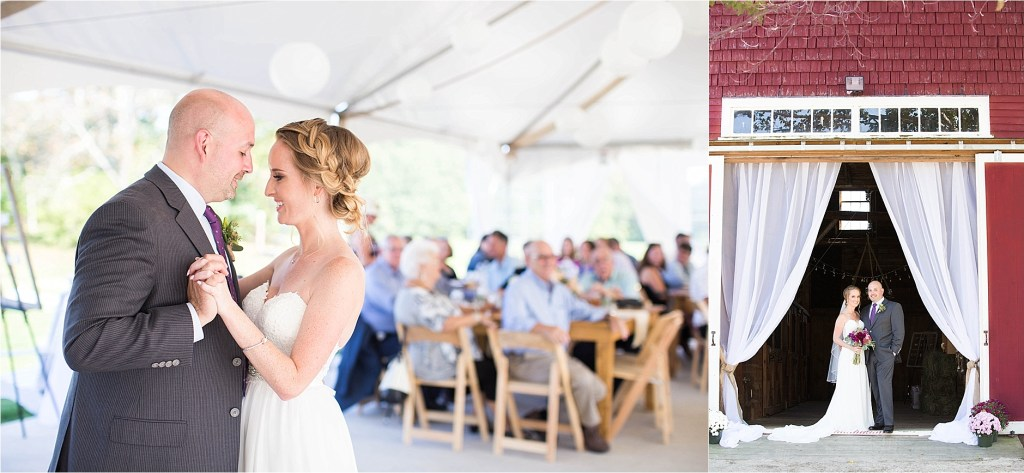 September Wedding at The Homestead at Rest and be Thankful Horse Farm