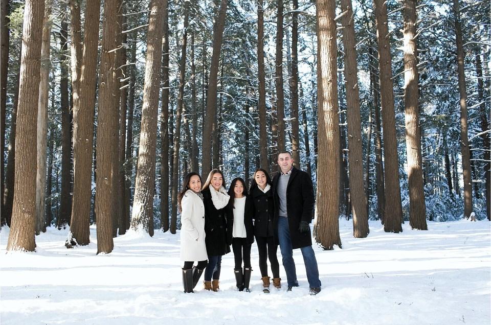 Winter Family Portrait Session | Maine Family Photographer