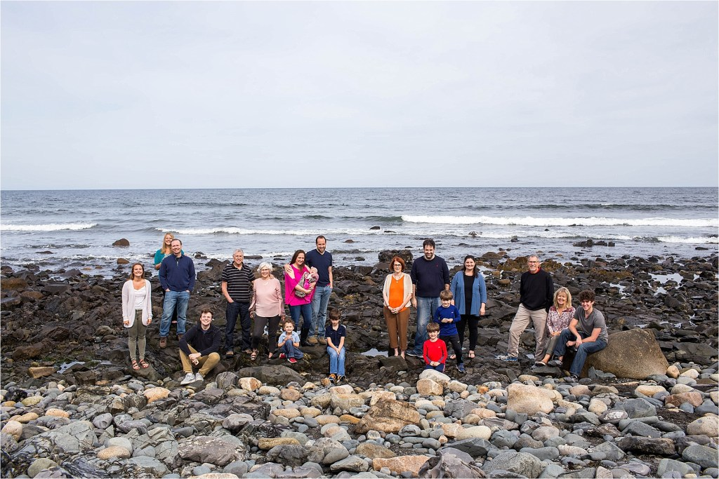 Large Family Portrait Long Sands Beach York Maine