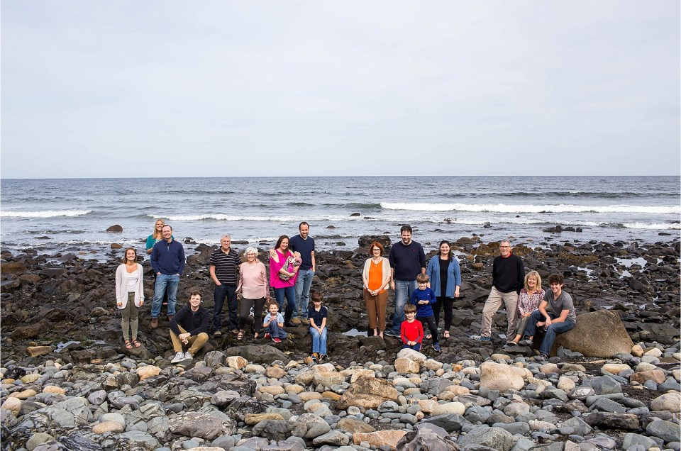 Large Family Portrait Long Sands Beach York Maine