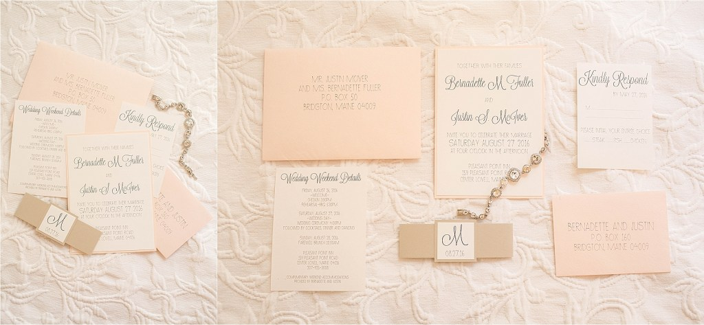 Wedding Invitations Maine Lakeside Wedding