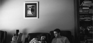 Slice of Life Family Session Maine Photographer at home session