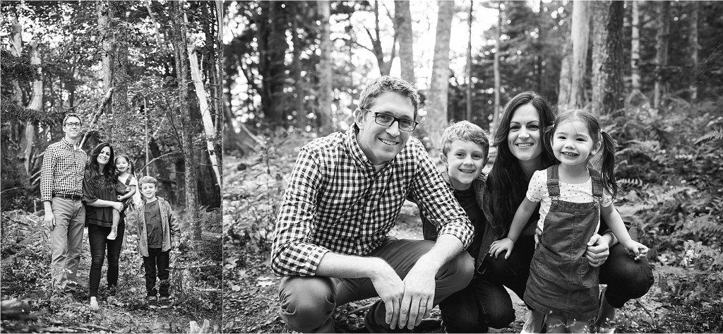Black and white photograph of family, Freeport Maine, Maine Family Photographer