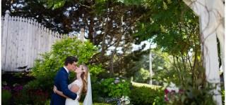 Bride and Groom Portrait at Inn on Peaks Island Wedding Photographer