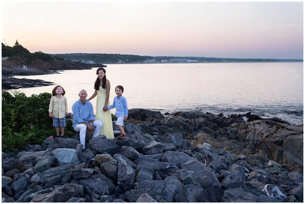 Ogunquit Maine Sunset Family Session