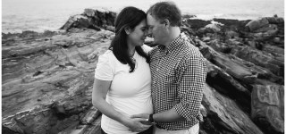 Pemaquid Point Lighthouse Maternity Session