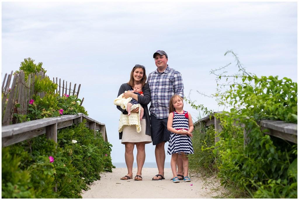 Family Portrait at Footbridge Beach in Ogunquit Maine