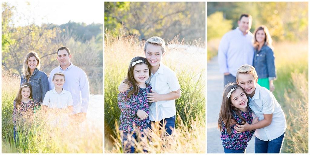 Sunny grass family photo