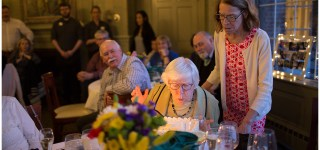 90th birthday party Portland Maine Cumberland Club Make a wish